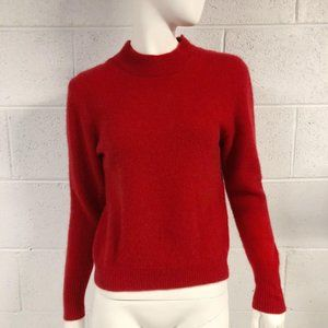 Vintage Neiman Marcus Red Cropped Cashmere Sweater